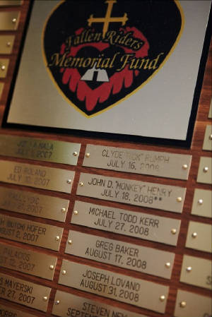 Our Memorial Plaque which is located at our National Headquarters in Ohio